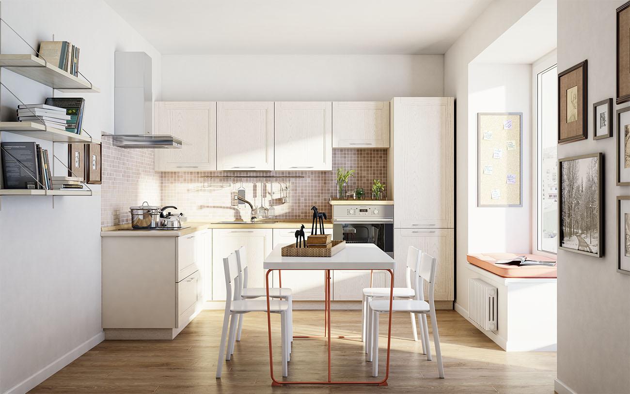 moderne landhausküche weiße küche massivholz