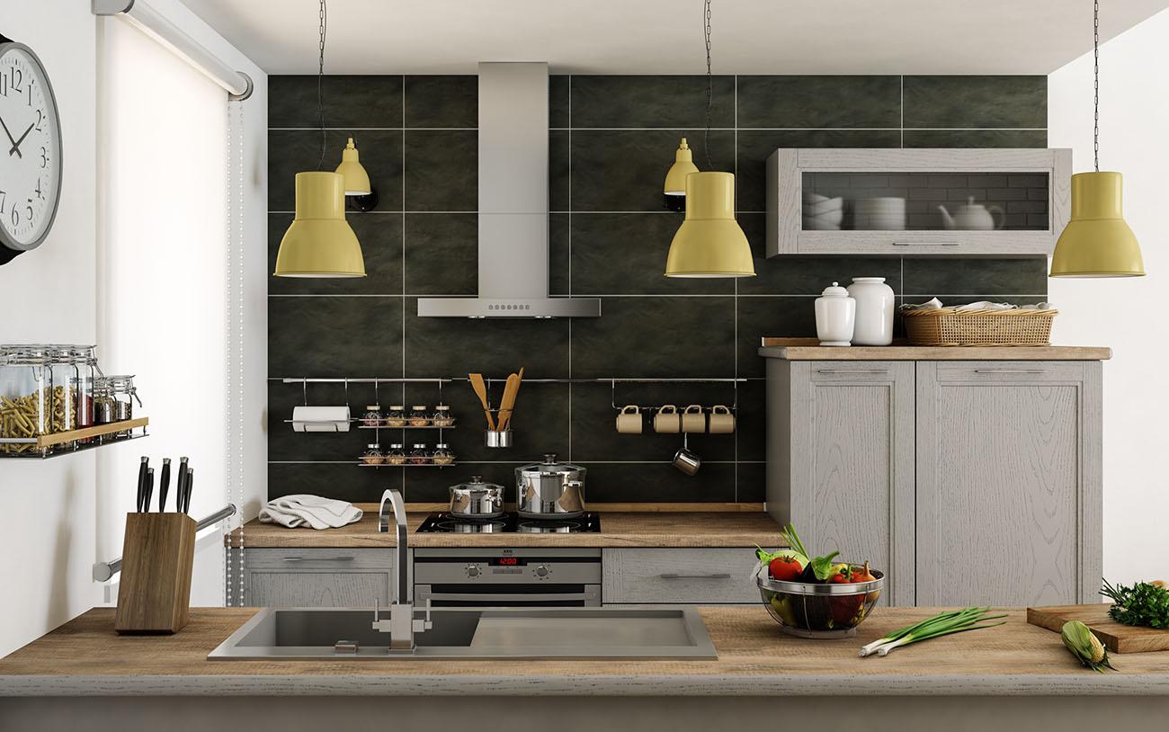 holzküche küche mit insel kücheneinrichtung kochinsel