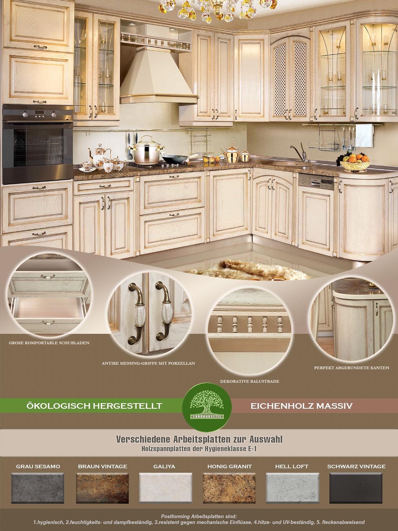 l küche küchenzeile weiß massivholzküche