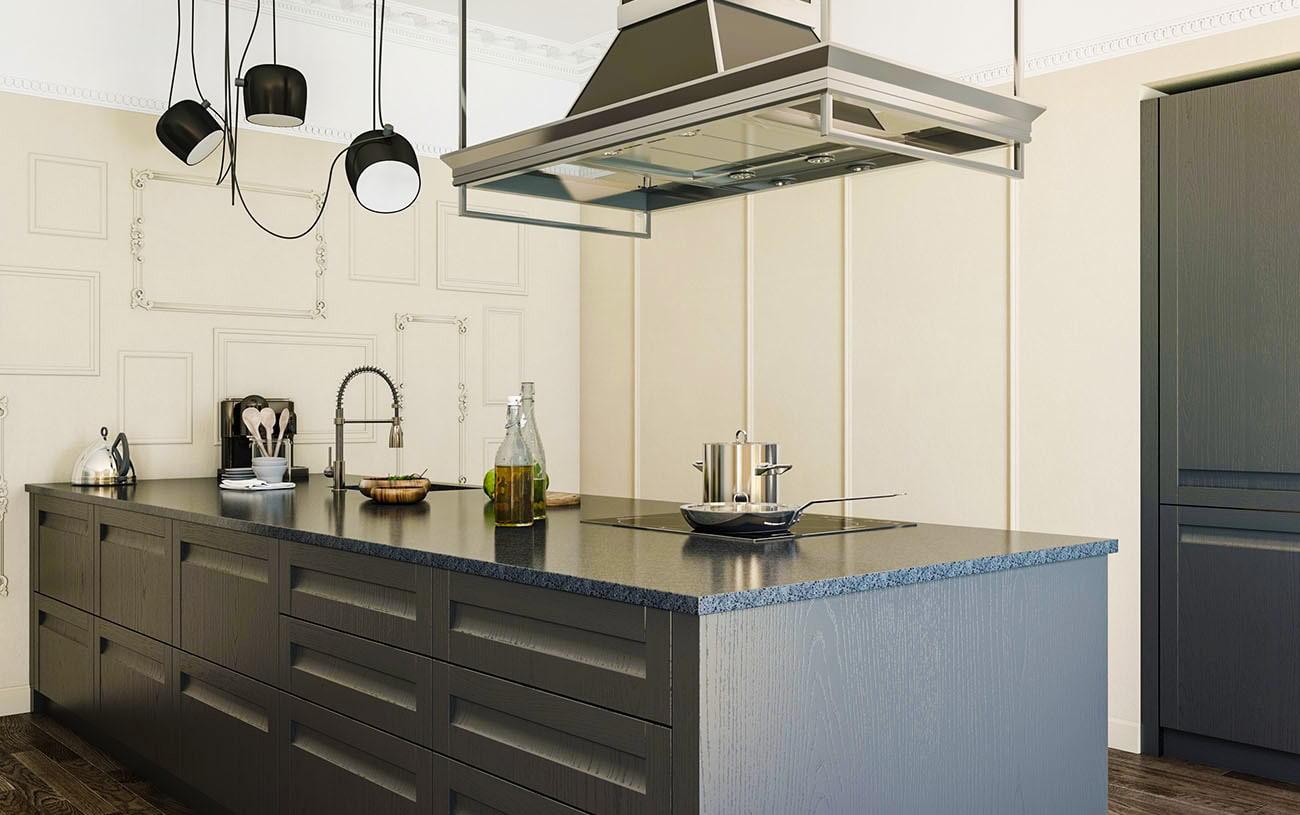 küchenmöbel aus holz fertig küchenzeile grifflose küche