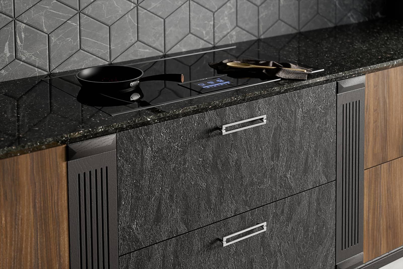 luxus küche küchen möbel marmor arbeitsplatte küche