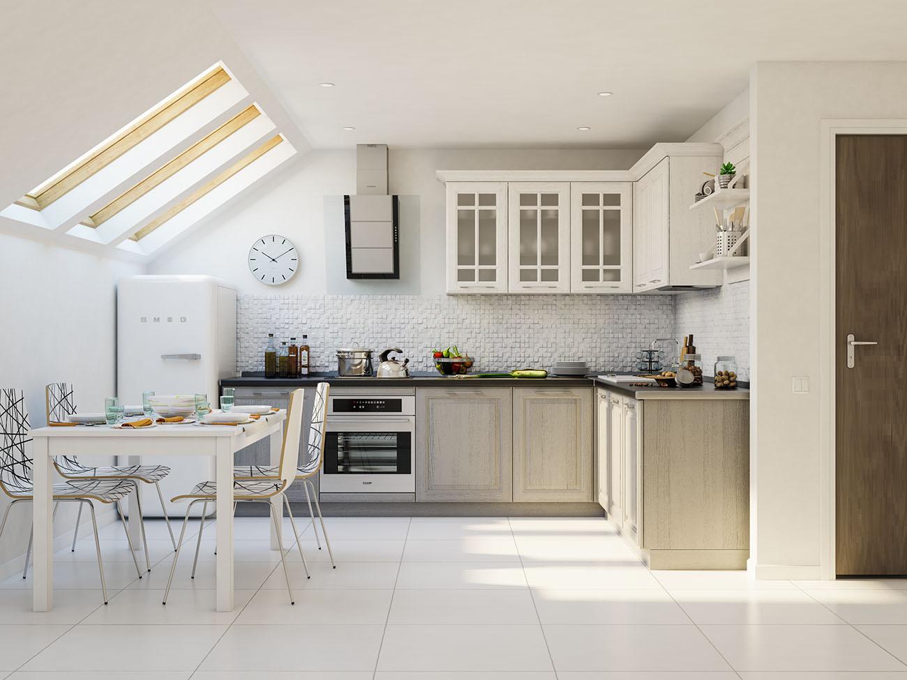 küche weiß grau moderne landhausküche einbauküche l form