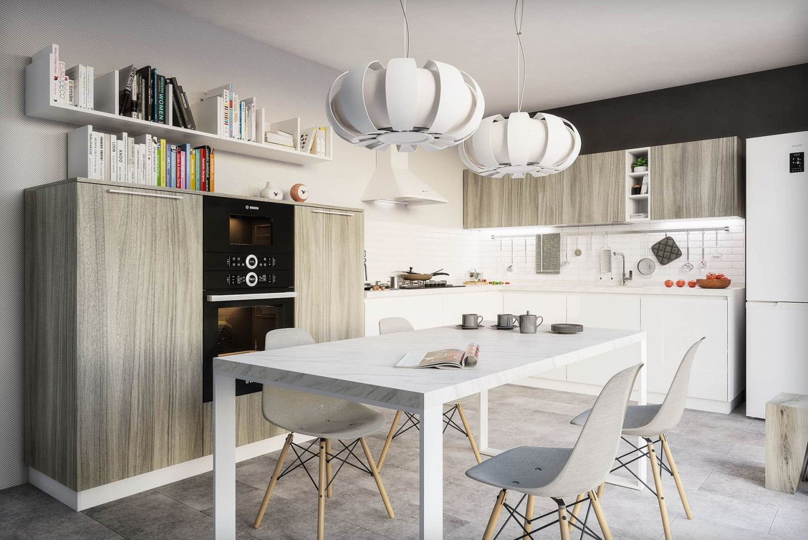 küche grau landhaus küchenmöbel grau