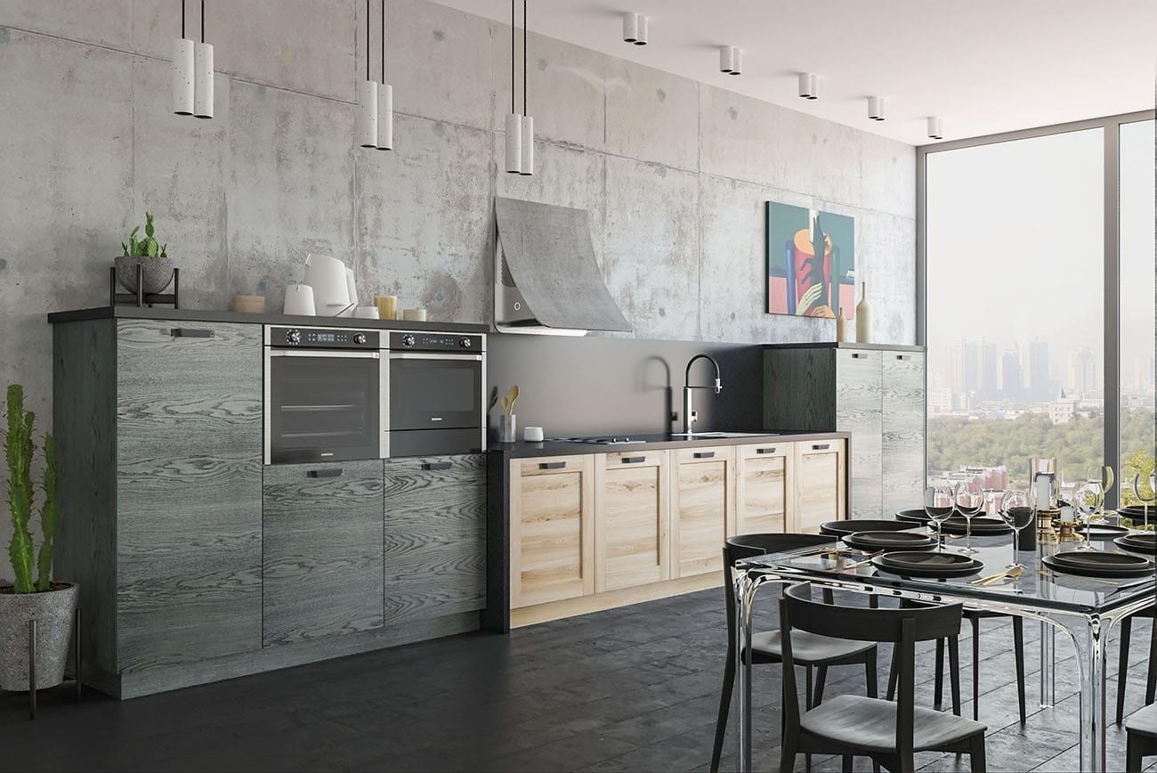 einbauküche wohnküche massivholz moderne küchen