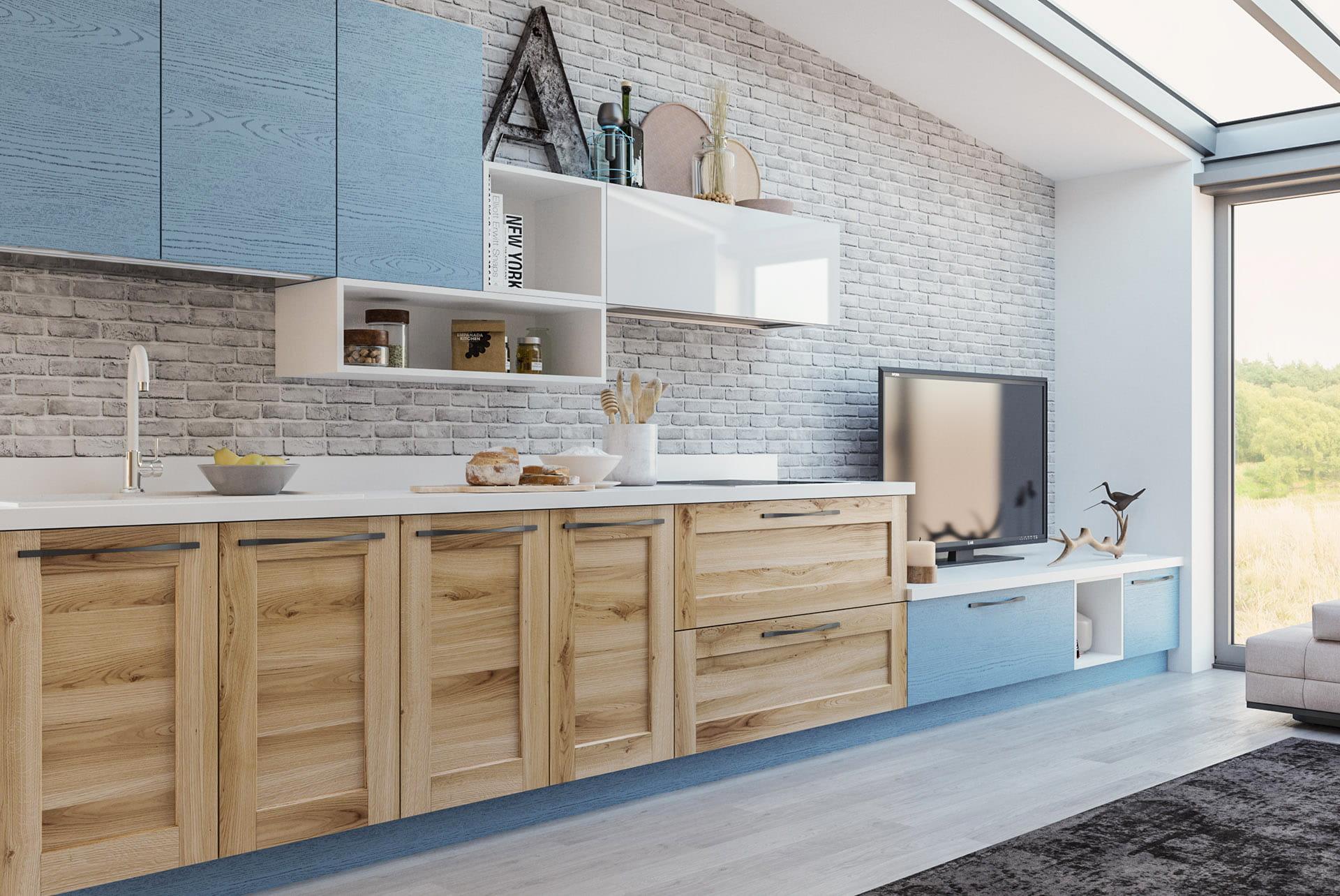 wohnküche massivholz moderne küchen