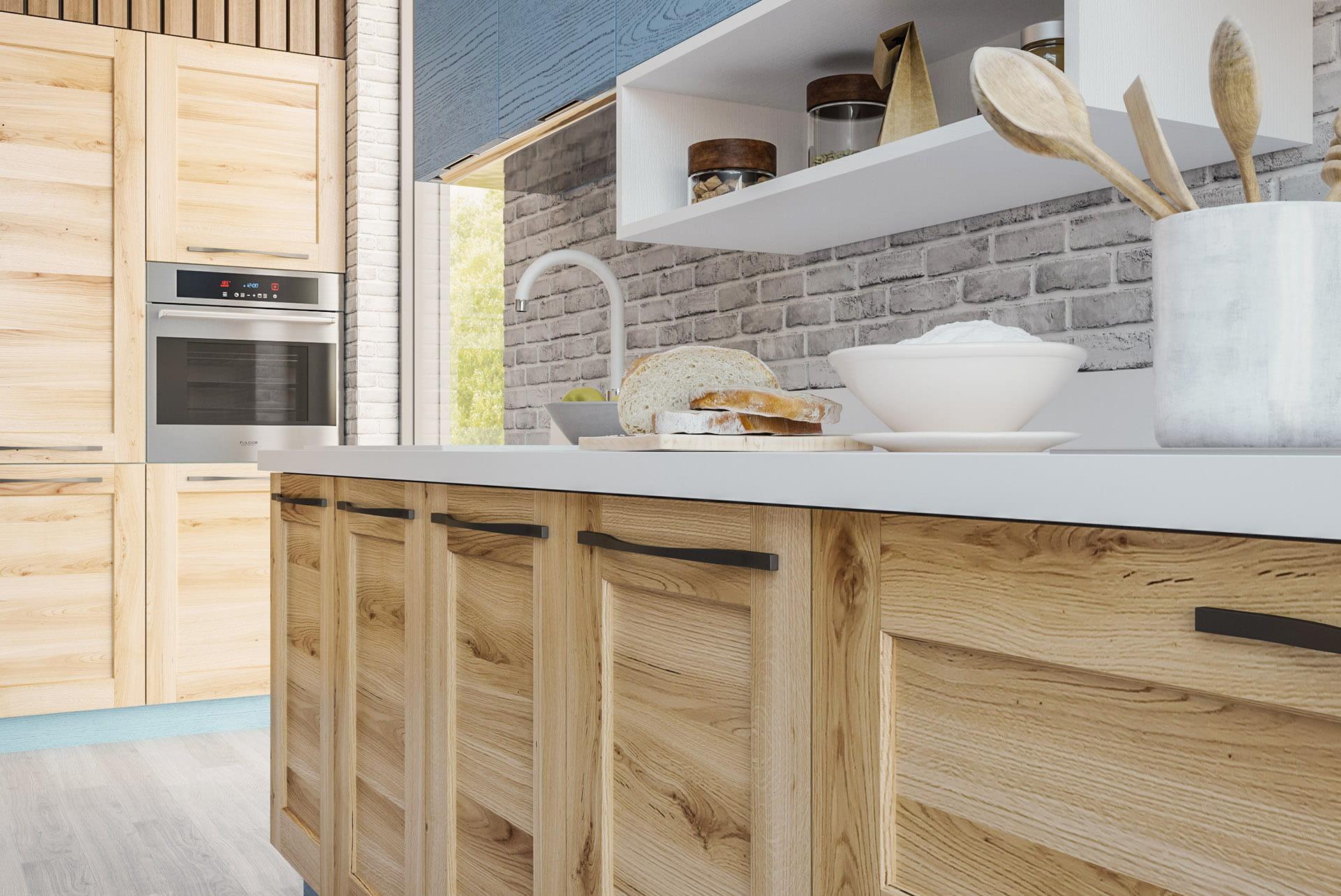 küchen möbel küche blau