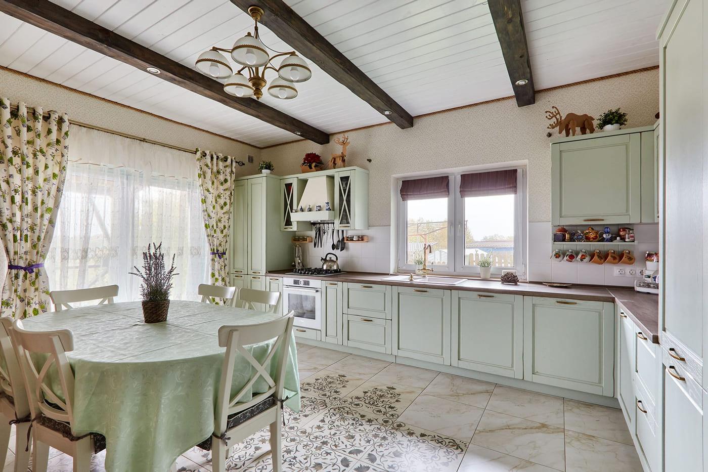 küche landhausstil einbauküche l form