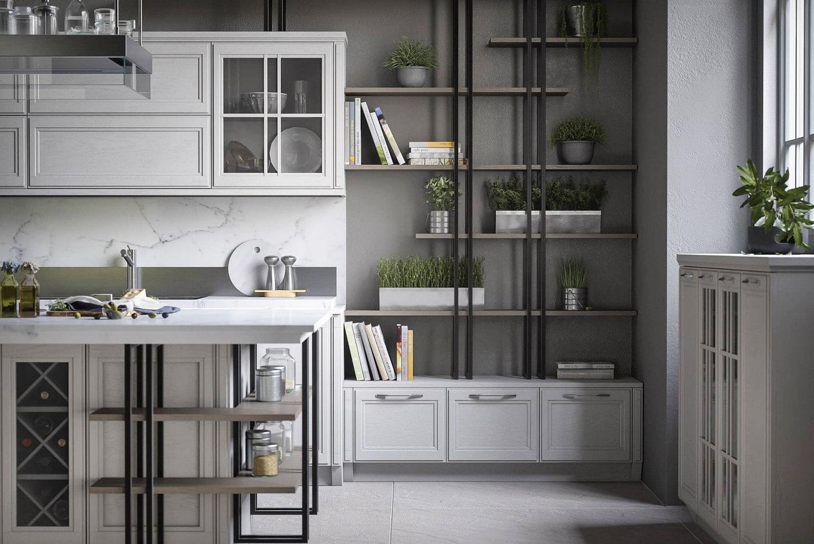loft küche mit kochinsel