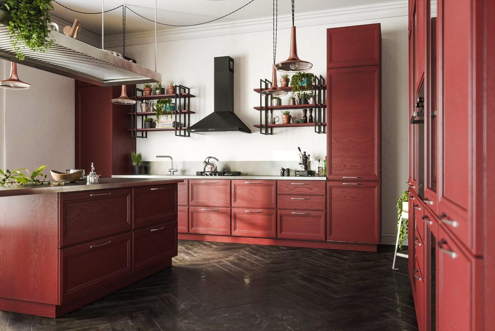 küche im landhausstil küchenzeile mit elektrogeräten