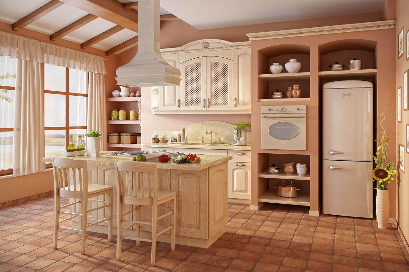 küchen landhausstil mediterran küche aus holz