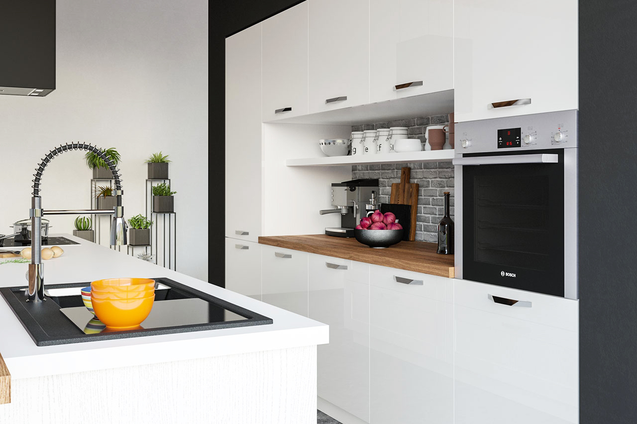 kücheneinrichtung luxus küchenmöbel weiß