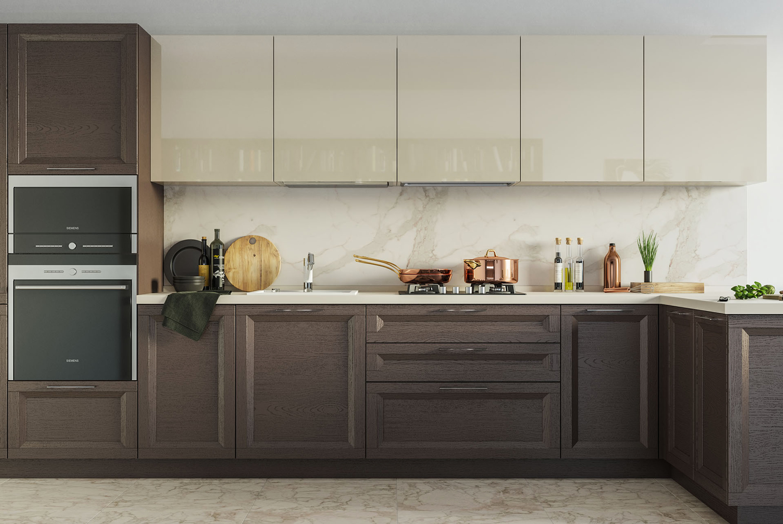 küchenzeile l form küchen aus holz landhausstil