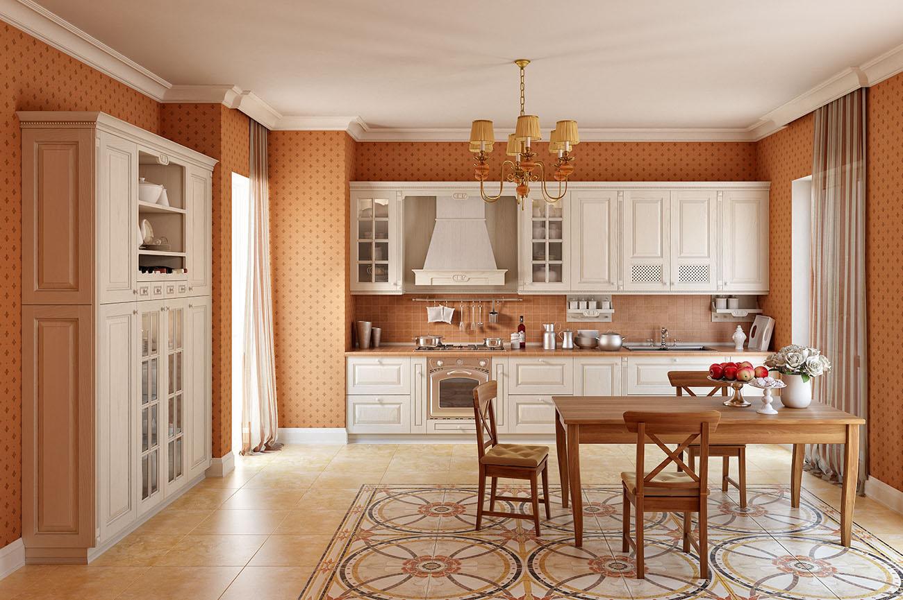 einbauküche landhausstil mediterran französische möbel