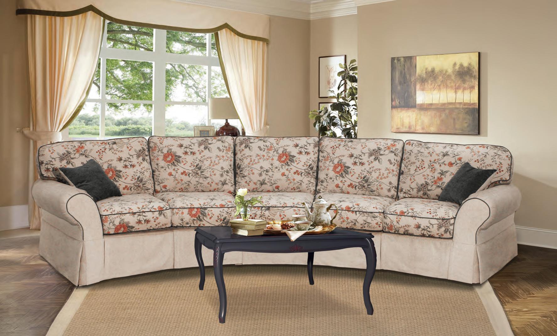 halbrundes sofa 5 sitzer ecksofa