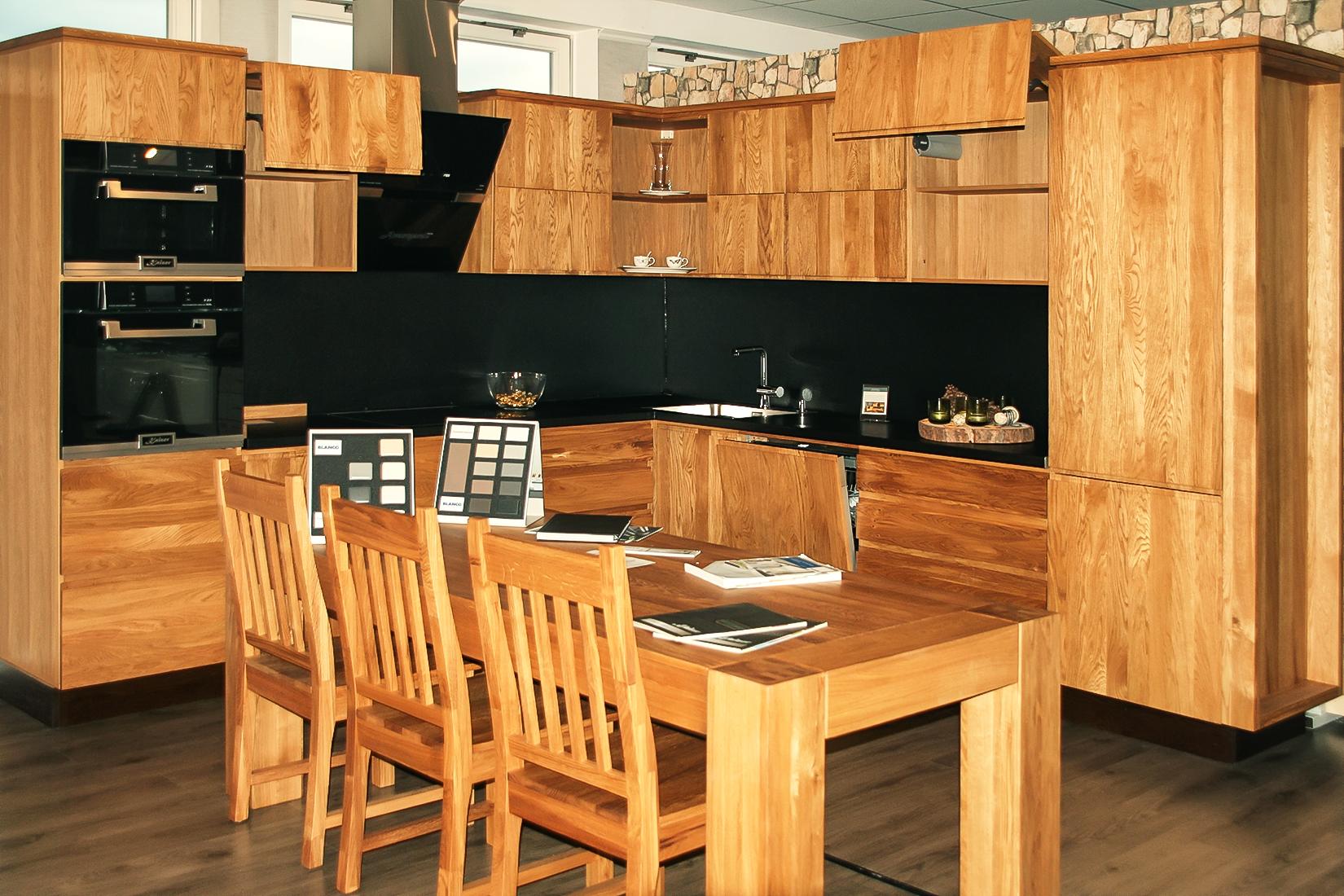 landhausküche modern küchenblock küchenzeile massivholzküche