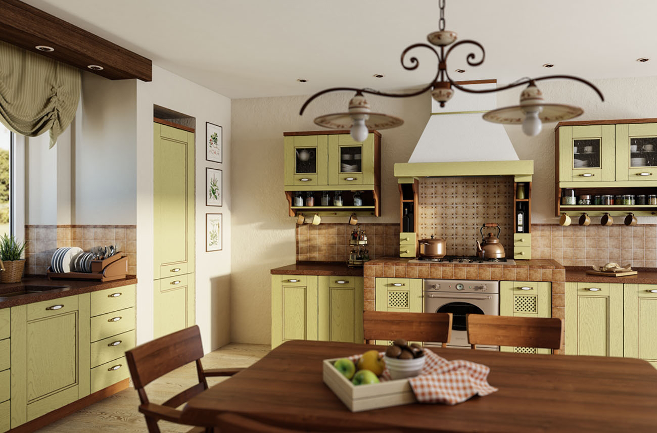 mediterrane küchen im landhausstil