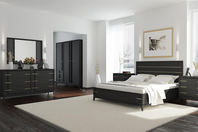englische möbel anthrazit schwarz gold schlafzimmermöbel