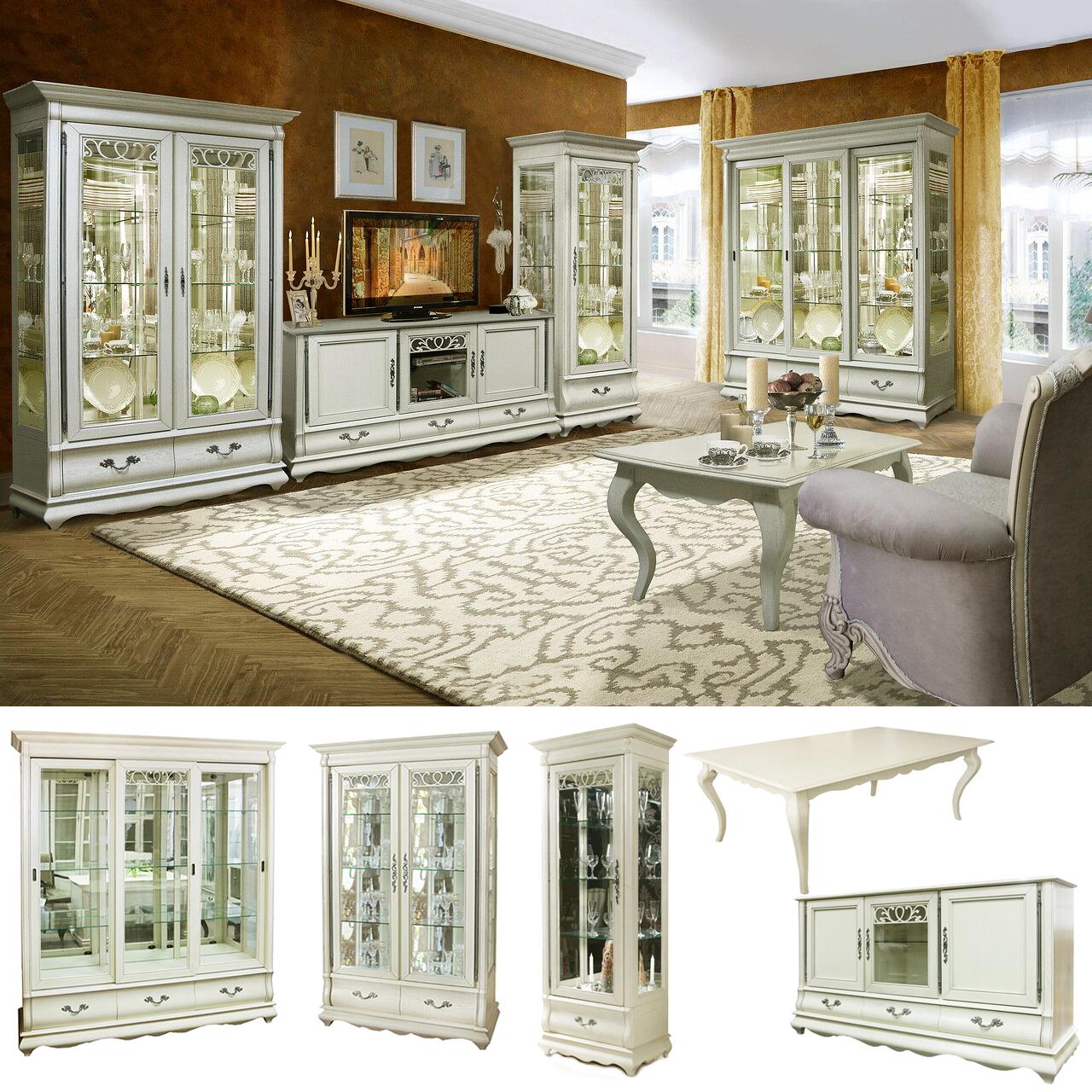 wohnwand weiß wohnzimmer landhausstil weiße möbel
