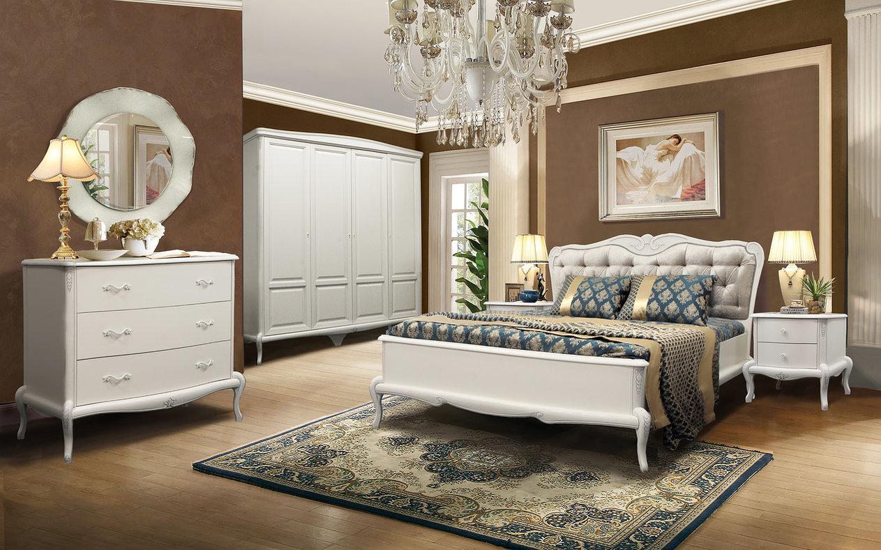 vintage schlafzimmer set weiß naturholz