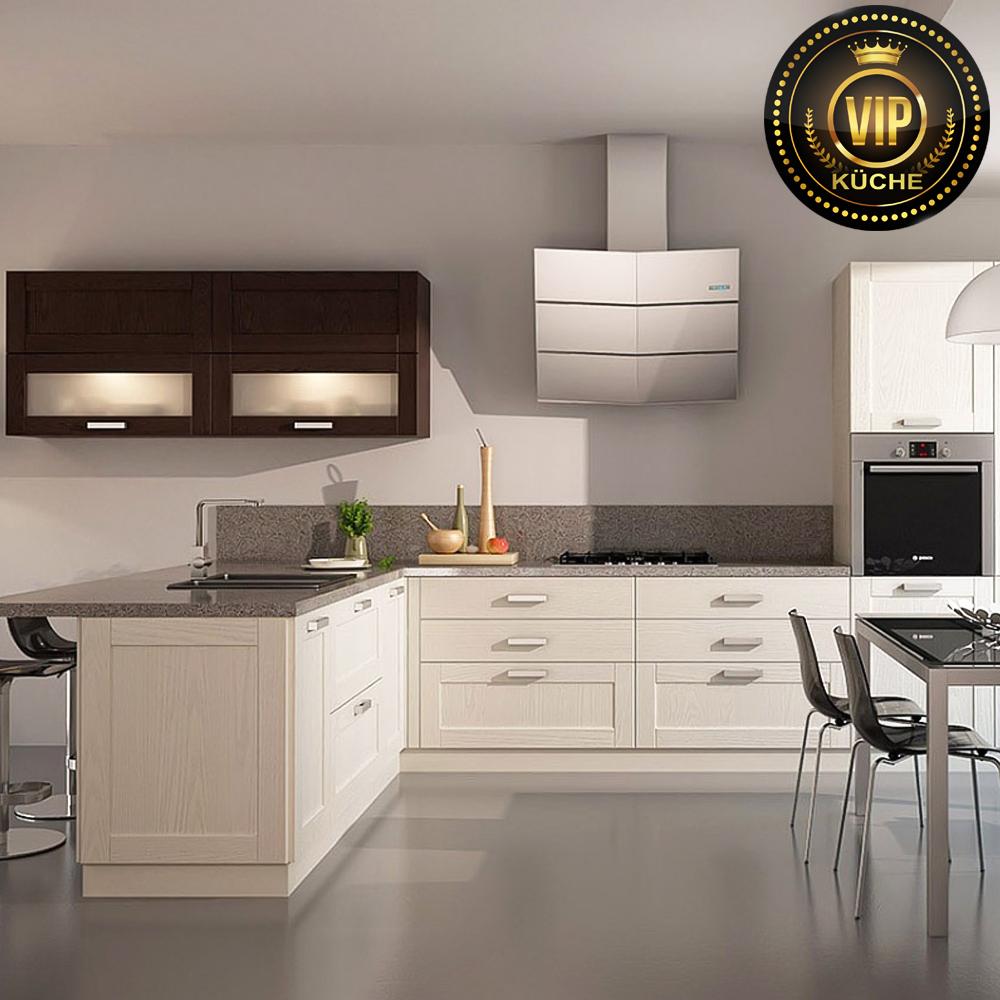 küche l form moderne landhausküche einbauküche beige braun küche hochwertig