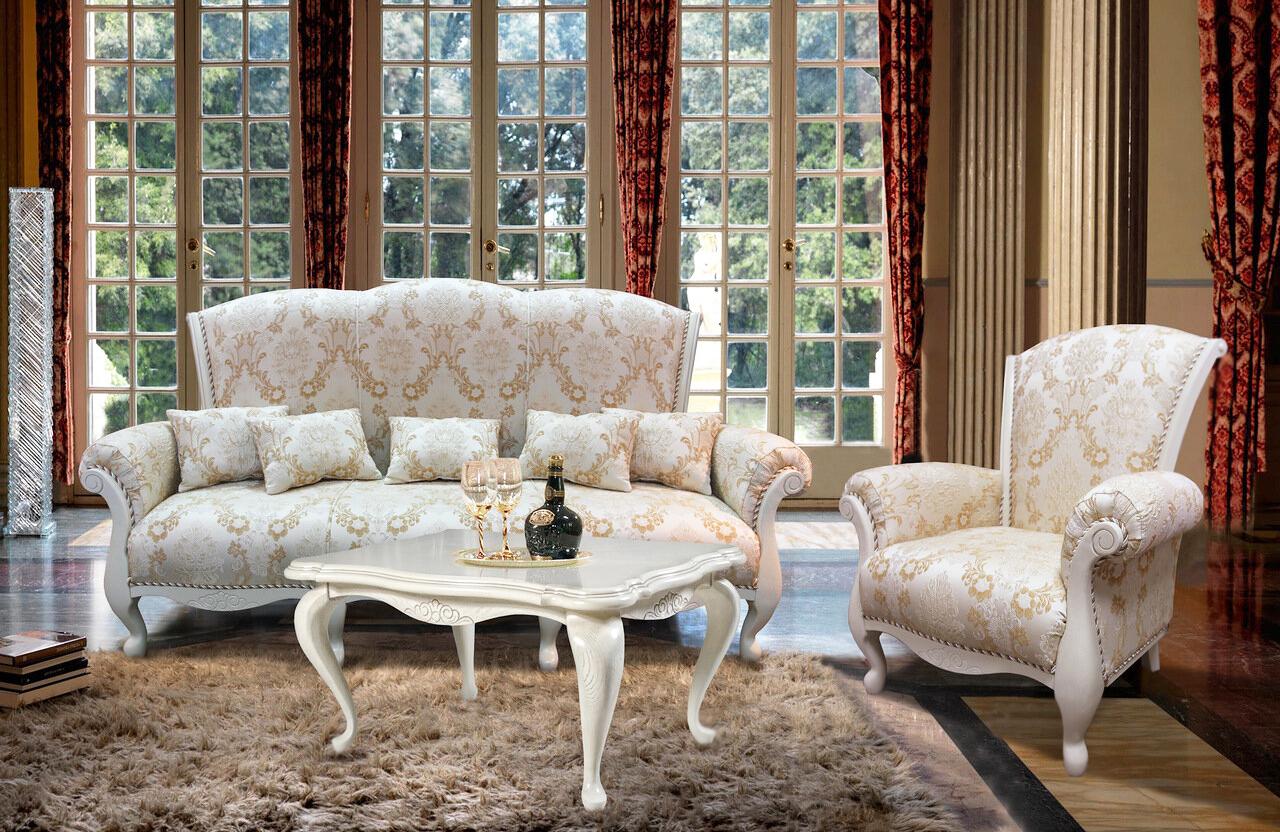 polstermöbel barock landhausstil möbel wohnzimmer
