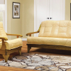 schlafcouch ledersofa beige
