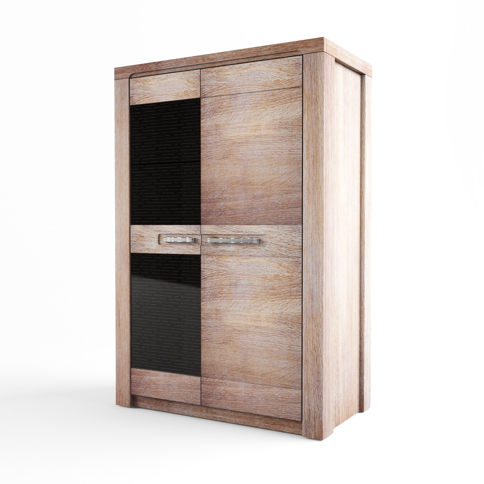 massivholzmöbel highboard eiche vitrinenschrank landhausstil