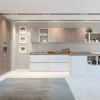 grifflose küche küche grau weiß moderne küche mit kochinsel