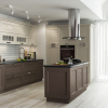 moderne landhausküche küche beige braun küche mit esszimmer