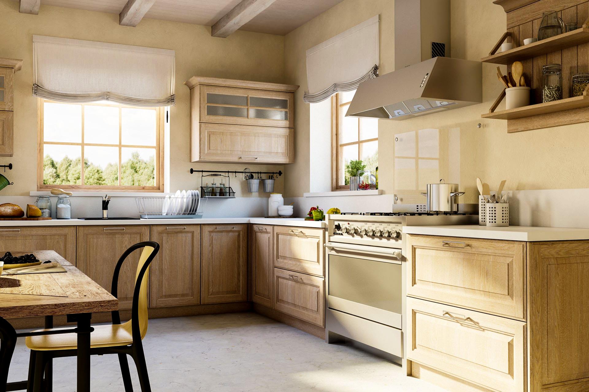 winkelküche küchenblock massiv holzküche küche landhaus eiche