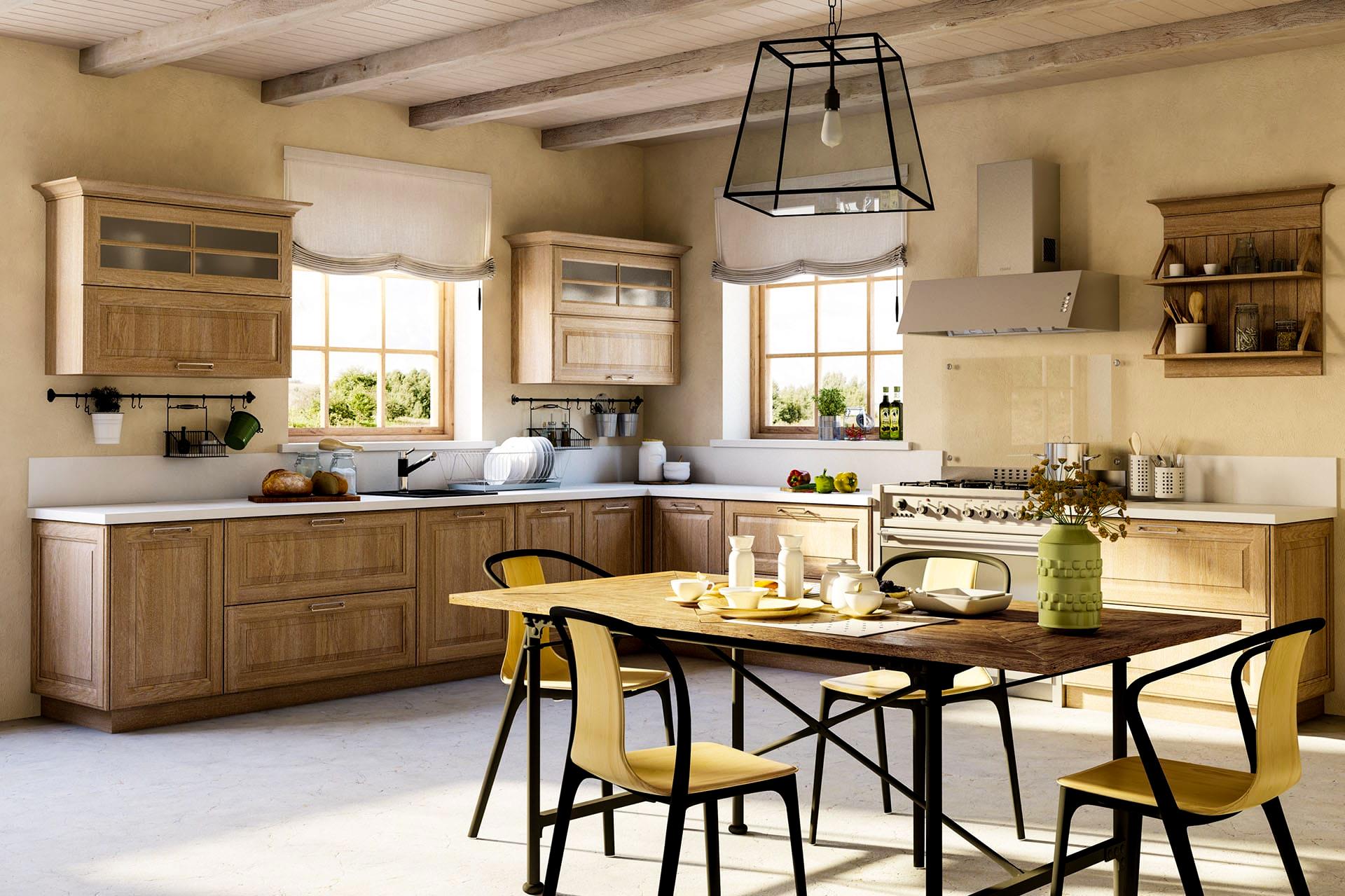 küchen im landhausstil küchenmöbel rustikale küche