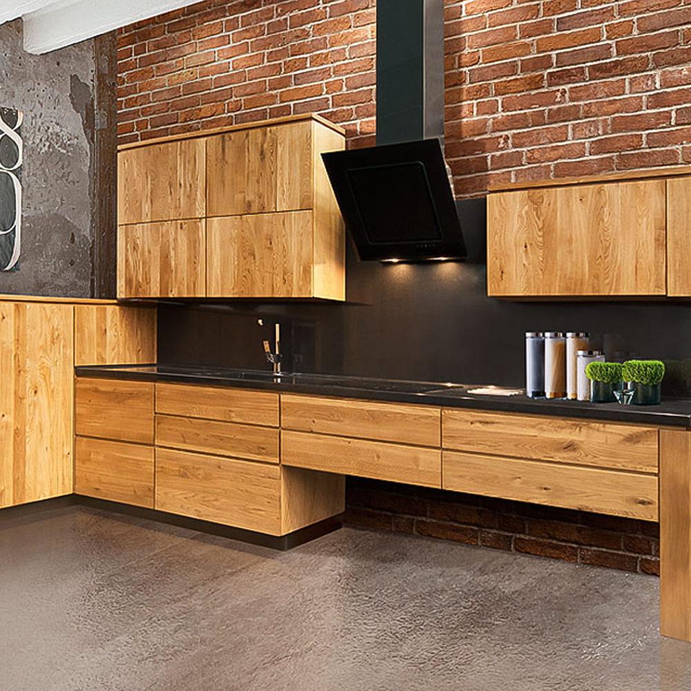 moderne landhausküche l form massivholzküche küche komplett einbauküche eiche