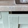 küchenschrank massivholz küchenfront mintgrün massivholz küche