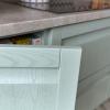 moderne küche weiss grün küche echtholz