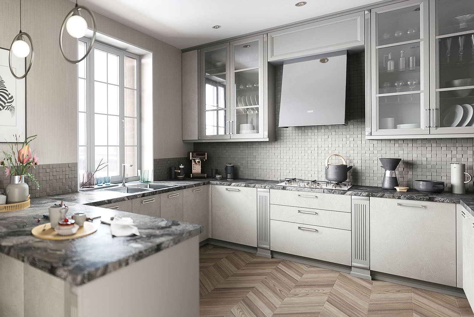 landhausküche weiß winkelküche moderne einbauküchen