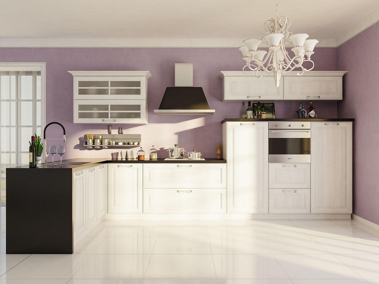 küche weiß moderne landhausküche einbauküche l form
