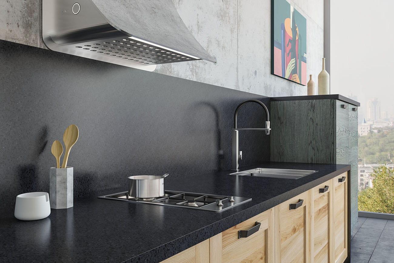 loft küche industrial look küchen im landhausstil