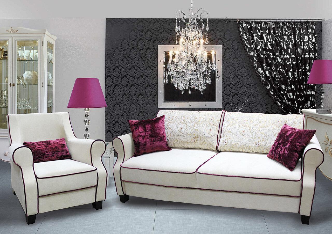 polstergarnitur 2 sitzer sofa couch mit schlaffunktion designermöbel