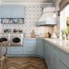 holzküche küche blau vollholzküche küchenzeile massivholz traumküche