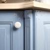 hellblaue küche massivholz küchenmöbel küchenschrank holz