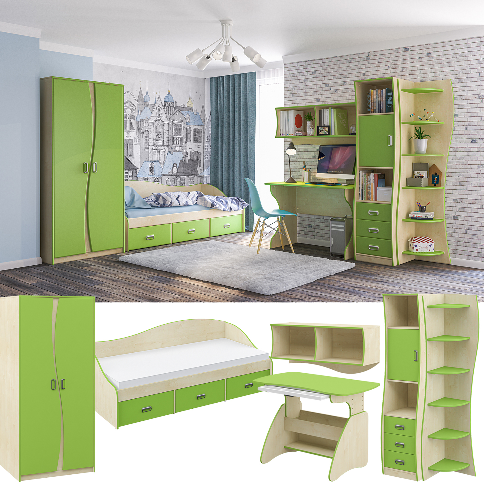 kinderzimmermöbel kaufen möbel jugendzimmer junge mädchen kinderzimmer grün