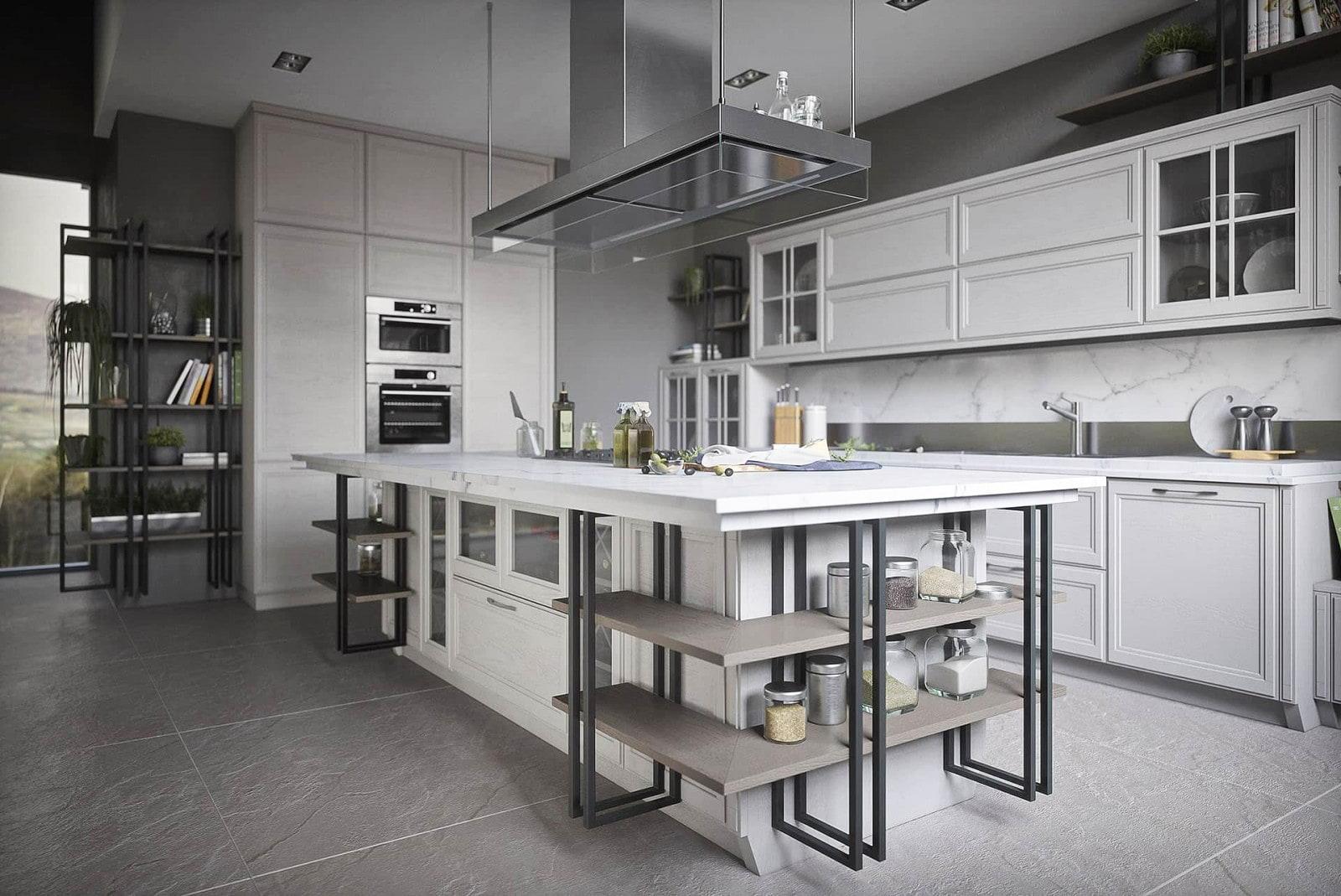 kücheneinrichtung landhausstil