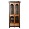 echtholz vitrinenschrank retro schrank massiv wohnwand kaufen