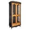 vitrine mit glastüren wohnzimmer schrankwand antike holzmöbel