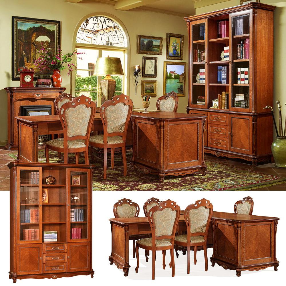 luxus büromöbel antik büroeinrichtung massivholz möbel für büro arbeitszimmer