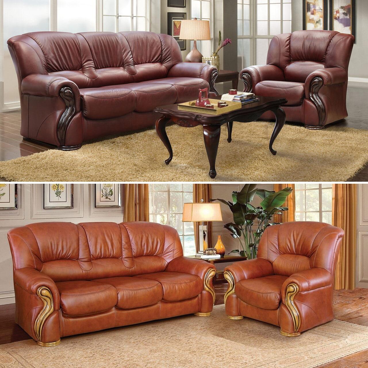 luxus sofagarnitur englische couchgarnitur mit schlaffunktion leder sofa mit sesseln
