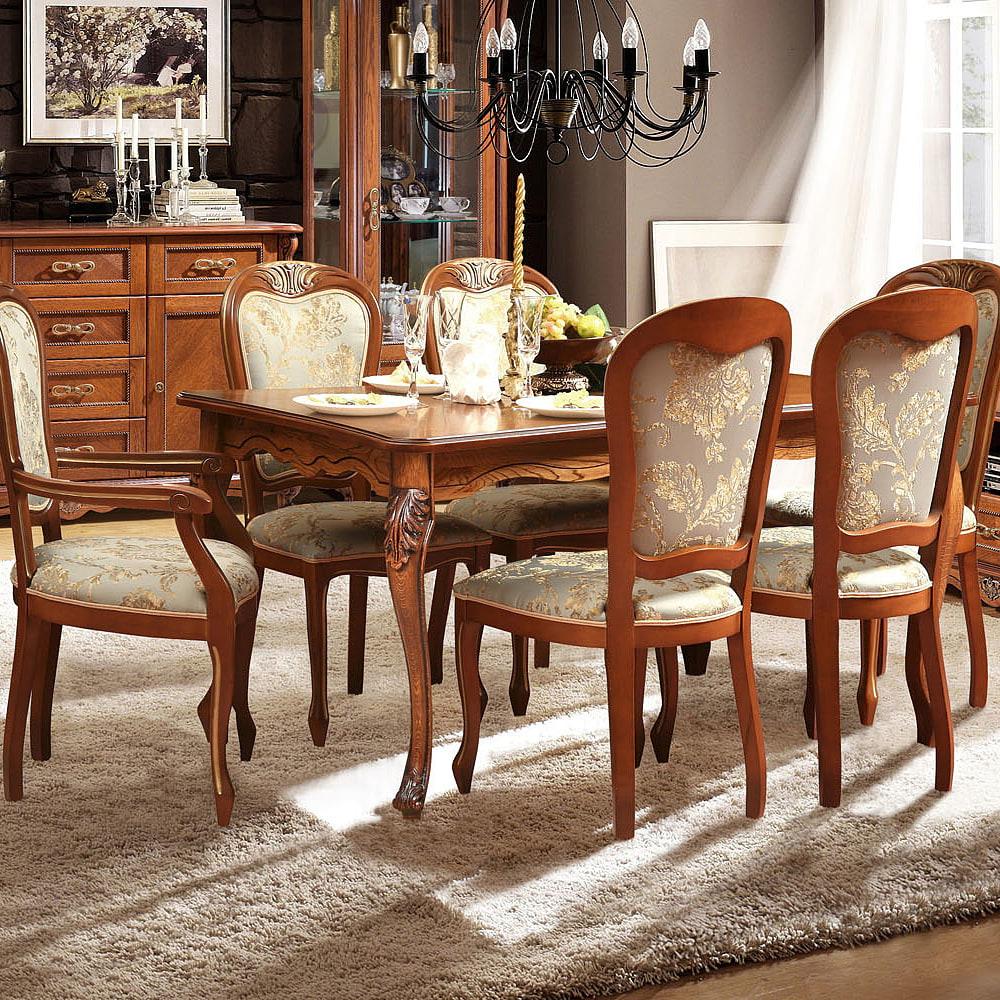 barock esszimmer set ausziehbarer tisch mit stühlen barock essgruppe echtholz tisch und stühle landhausstil