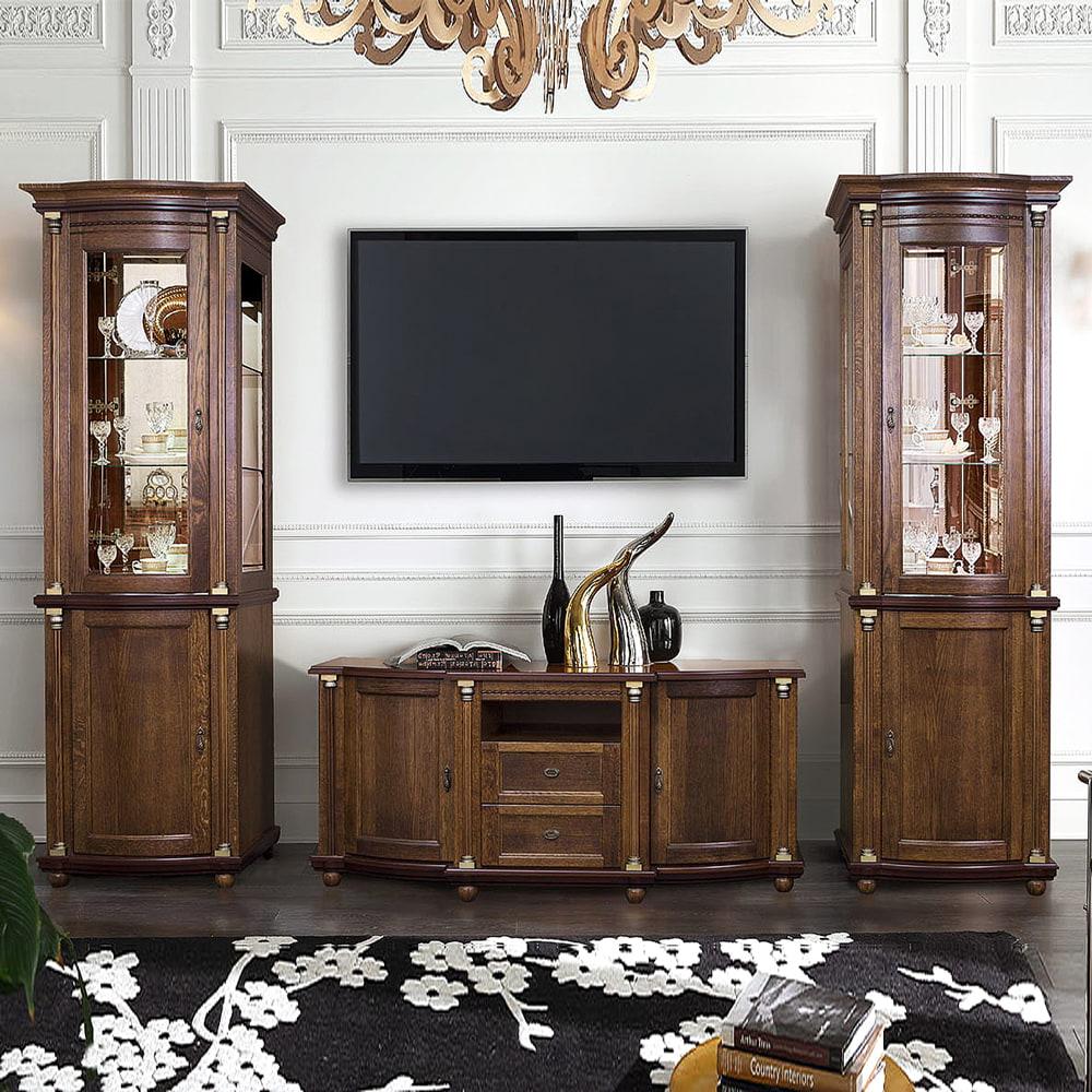 wohnzimmermöbel massivholz braun wohnzimmer einrichten wohnwand eiche wohnwand anthrazit