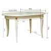 esstisch oval barockstil ausziehbar mit 4 stühlen
