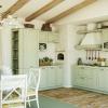 Landhausküche Hellgrün Massivholz